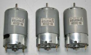 Lot of 3 NEW Mabuchi RS-555SH-75/1850 32403720 Motors