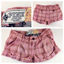 Victoria's Secret Sexy Pink Plaid Shorts- Size 4