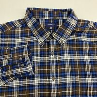 Croft & Barrow Button Up Shirt Mens 2XL XXL Long Sleeve Multicolor Plaid Flannel