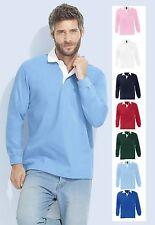 Rugby Langarm Herren-Shirts aus Baumwolle