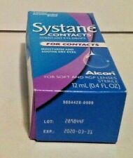 1 SYSTANE FOR CONTACTS LUBRICANT EYE DROPS 0.4 fl oz, Sooth Dry Eyes, Exp 3/2020