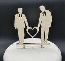 *NEW* LGBT Wedding Cake Topper, Male, Gay