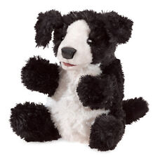 Folkmanis Small Dog Hand Puppet Puppy Black White 3yrs+ NEW