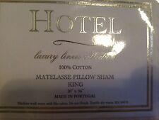 KING PILLOW SHAM HOTEL LUXURY LINENS COLLECTION MATELASSE WHITE NEW DIAMOND B3RL