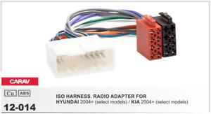 CARAV 12-014 Conector ISO OEM Radio Adaptador HYUNDAI 2005+, KIA 2005+