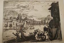 GRAVURE SUR CUIVRE EGYPTE ENFANT ISRAEL NIL-BIBLE 1670 LEMAISTRE DE SACY  (B29)