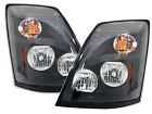 For 2004-2018 04-18 VNL Series Headlamp Black Pair Passenger RH and Driver LH