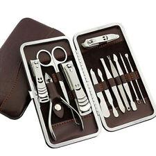 Professional Nail Care 12pcs Pedicure Manicure Set Cuticle Clipper Tool Kit Case