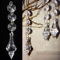 10 x Diamant Acryl Kristall Perlen Girlande Kronleuchter Hängende Hochzeit Deko