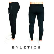 Mens Pants BYLETICS Fitness Trousers Slim Gym Workout Jogger Sport Athlete Body