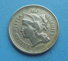 United States, 3 Cents 1868, Good Grade.