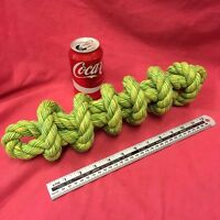 """Rope Dog Toy GREEN MASSIVE 3.5 Thick 16"""" healthy teeth Gum Tough Strong Durable"""
