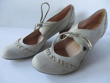 OTTO KERN ° chice Pumps Gr. 41 beige Leder Damen Schuhe Spangenschuhe Mary Janes