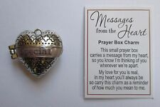 p Special MESSAGES FROM THE HEART Prayer Box Charm Ganz love person friend