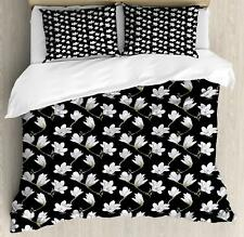 Magnolia Duvet Cover Set Twin Queen King Sizes with Pillow Shams