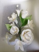 Beautiful Sugar mix flowers Sprays, Cake Toppers For Birthdays Wedding LARGE#2