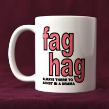 Fag Hag (Pink) - LGBT+ Mug, Funny Mugs