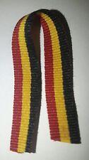Ruban miniature noir jaune rouge, Belgique, médailles, décorations