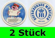 2 Stück Bierdeckel  Hofbräuhaus München - Ein Münchner im Himmel Nr. 27 Aloisius