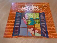 Paul Olefsky & Walter Hautzig - Brahms Sonatas Cello & Piano LP VG+ MCS 2116 2nd