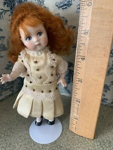 Satin Mignonette Doll Dress In Satin And Old Lace Vintage Old Store Stock