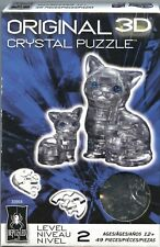 Bepuzzled BLACK CAT & KITTEN 3D Crystal Jigsaw Puzzle 49 pc