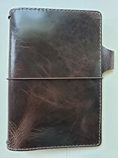 Chic Sparrow Travelers Notebook Deluxe Dark Brown Maverick B6 Slim Free Shipping