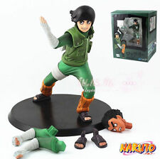 "NARUTO SHIPPUDDEN/ FIGURA ROCK LEE 14 CM- ANIME FIGURE TWO FACE  5.5""  WITH BOX"