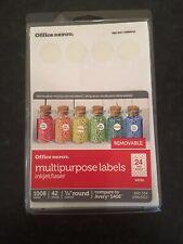 White Round Labels Garage Sale Price Stickers Office Depot Inkjetlaser 34