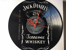 Repurposed Vinyl Record Clocks and Wall Art- Jack Daniels LP Clock-1