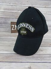 Guinness Beer Embroidered Front Clover 1759 Black Hat St. Patrick's 100% Cotton