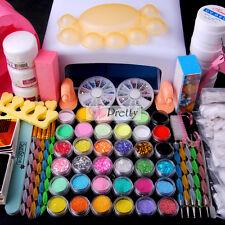 Hot 36W White UV Lamp Gel Polish Curing Dryer Light Acrylic Nail Art Tip Kit Set