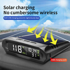 Wireless Solar Car HUD Head Up Display Digital GPS Module Speedometer NEW