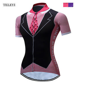 TELEYI Women Riding Cycling Short Sleeve Jersey Top Team Girls Bike Shirt Top