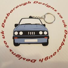 Ford MK2 Escort Rs 2000 Key Ring Light Blue Front
