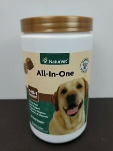 NaturVet All-In-One 4-in-1 Support 120 Soft Chews for Dogs 16.9 oz 02/2024