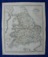 ENGLAND & WALES original antique map, Reform Bill, W. Ebden, J. Duncan, 1838