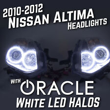 2010-2012 Nissan Altima Headlights Pair LH RH Dual ORACLE White LED Halo Kit