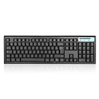 Jelly Comb Wireless Tastatur Maus Set Tastatur AZERTY 104Tasten leise, schwarz