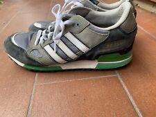 Scarpe adidas ZX 750, numero 45, colore nero/verde/bianche