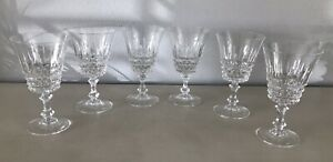 6 Crystal Wine or Water Glasses Stemware for Fine Dining No Nicks or Chips