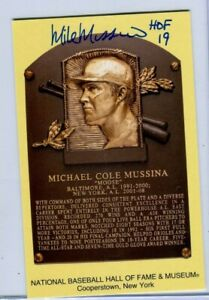 Mike Mussina Signed 2019 Hall of Fame Postcard Plaque Autographed HOF Yankees