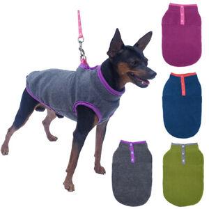 Winter Warm Dog Clothes Soft Fleece Pet Dog Sweater Button Puppy Coat Jacket
