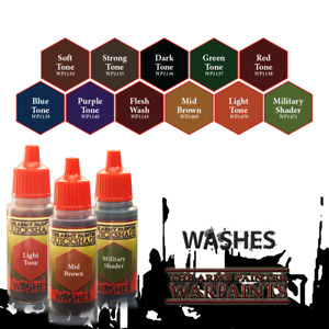 The Army Painter Quickshade Washes Wash Tone BUY 3 SHIPS FREE Soft Strong Dark