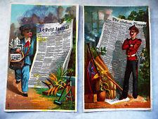 """DEUX CHROMOS ANCIENS JOURNAUX """"LE PETIT JOURNAL"""" ET """"THE TIMES"""""""