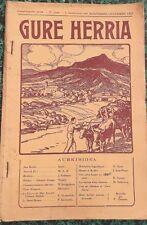 * GURE HERRIA * 11-12-1931:Jean BARBIER/BASQUE et BERBERE/Le STATUT BASQUE etc