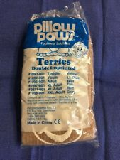 New listing Pillow Paws Terries Adult Slippers ''1 pair, Tan, Xl''