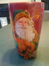 Vintage VTG Hallmark Tall Red Classic Christmas Santa Coffee Cup