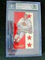 1994 Parkhurst TALL BOYS Autographed Pierre Pilote Al-Star Hockey Card Beckett