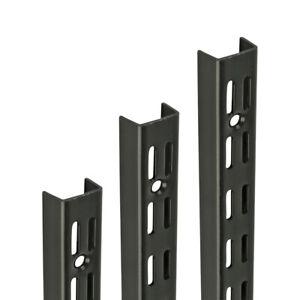 BLACK Shelf UPRIGHTS for Shelving System Twin Slot Adjustable Support Racking